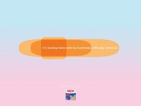Band Aid Print Ad - Biker