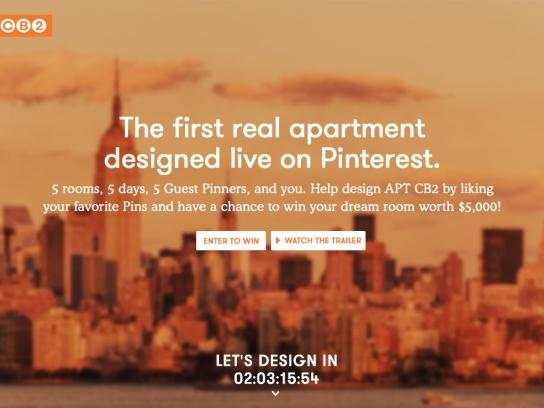 CB2 Digital Ad -  Designed live on Pinterest
