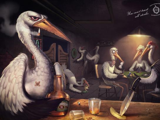 Santa Therezinha Maternity Hospital Print Ad -  Bad storks, Bar