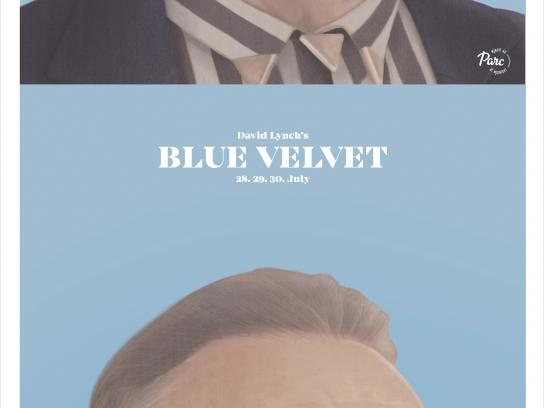 Cinema du Parc Outdoor Ad - Blue Velvet