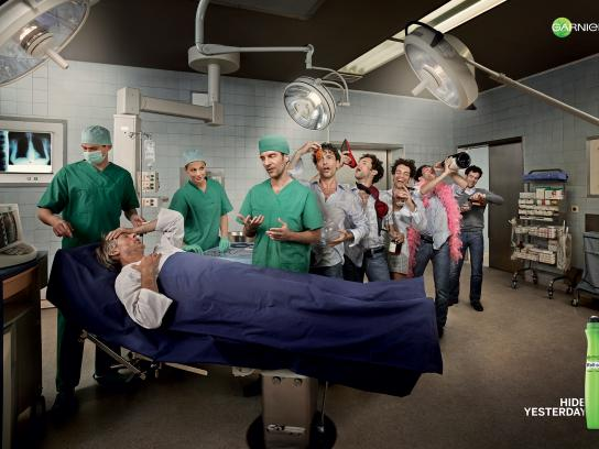 Garnier Print Ad -  Hide yesterday, Surgeon