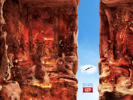Kit Kat Print Ad -  Break, Hell