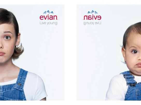 Evian Print Ad -  Mathilde & Lola
