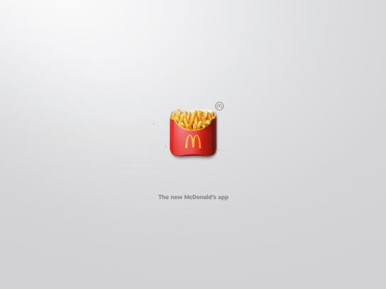 McDonald's Outdoor Ad - App-Icons, Fries