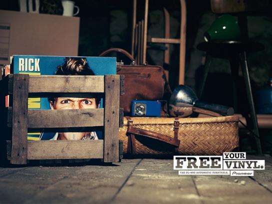 Pioneer Print Ad -  Vinyl Prisoners, 2