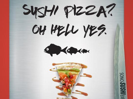 Sono Sushi Print Ad - PIZZA