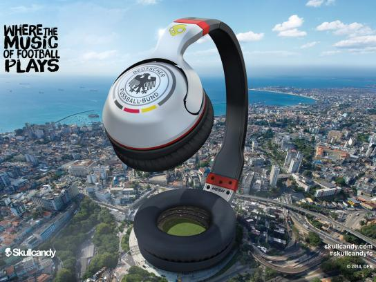 Skullcandy Print Ad -  Where the music of football plays, 2