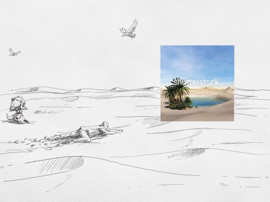 Shutterstock Print Ad - Desert
