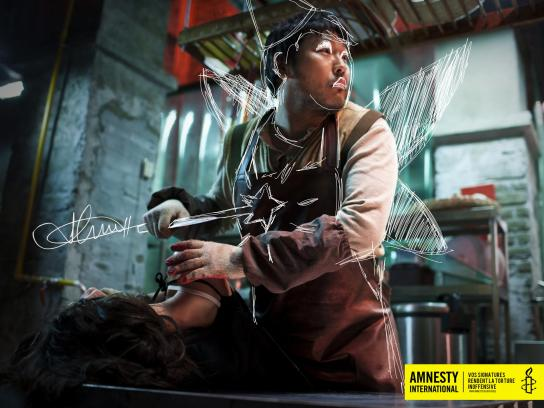 Amnesty International Print Ad -  Signatures against torture, 2