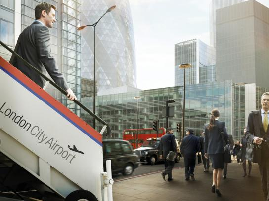 London City Airport Print Ad -  Bank