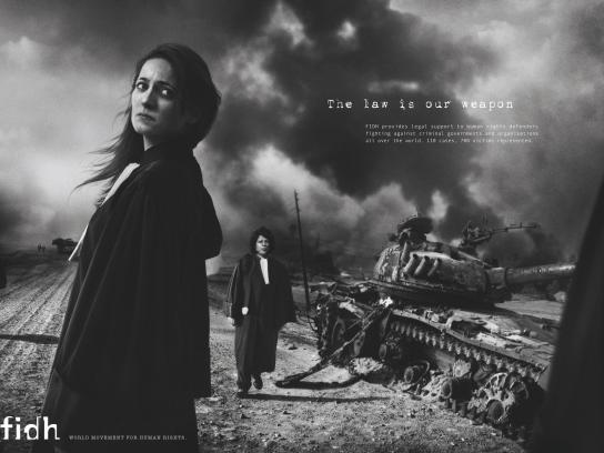 fidh Print Ad -  The law is our weapon, 3
