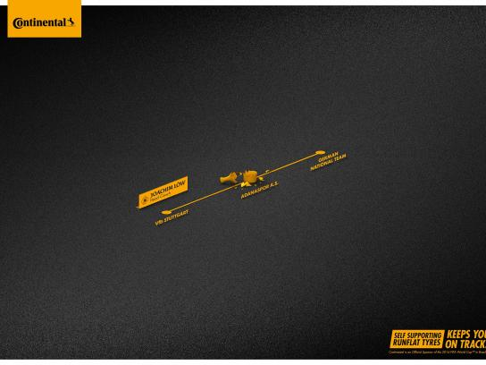 Continental Print Ad -  On track, 3