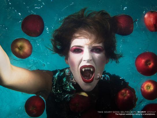 Sony Print Ad -  Underwater selfie, 1