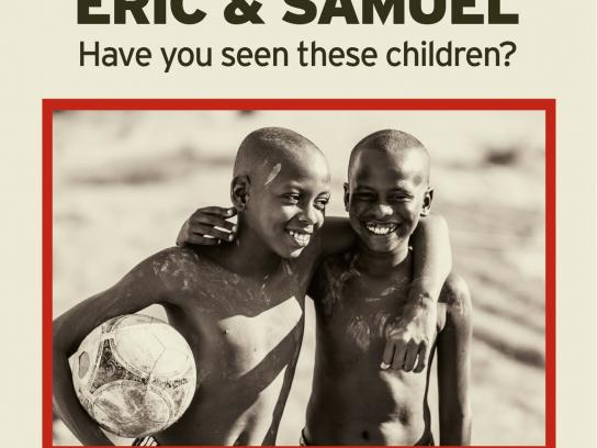 SOS Children's Villages Outdoor Ad -  Eric and Samuel