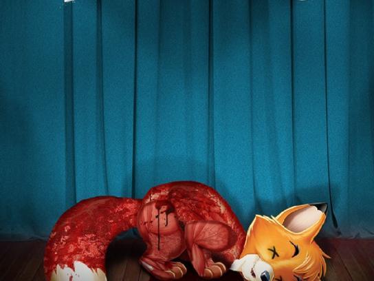 PETA Print Ad -  Fox