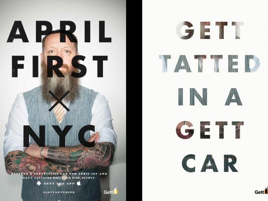 Gett Outdoor Ad -  Tatted
