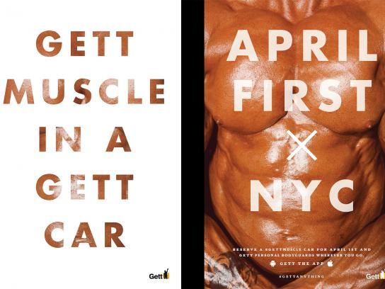 Gett Outdoor Ad -  Muscle