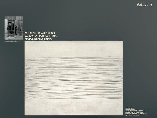 Sotheby's Print Ad -  Piero Manzoni