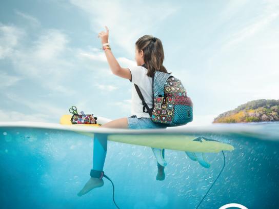 Associação Surf Social Wave Print Ad - Depois da onda há muito mar, 1