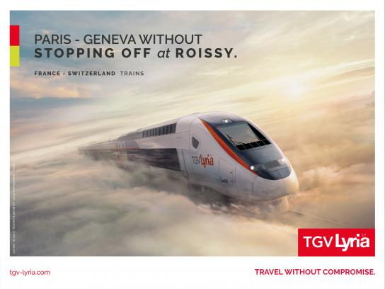 TGV Lyria Outdoor Ad - Morning