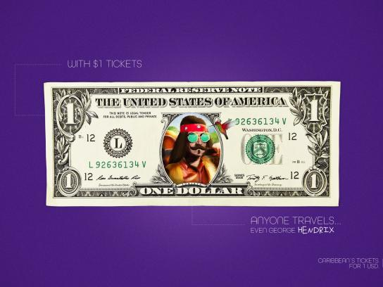 Wingo Print Ad - 1 Dollar Tickets, George Hendrix