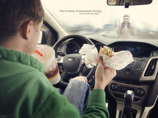 Elaine Wright Print Ad -  Distracted driving, 3