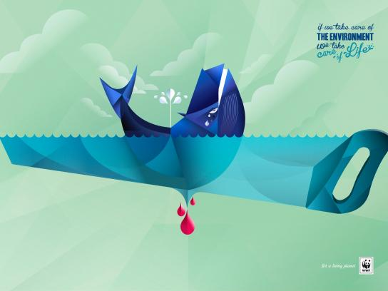 WWF Outdoor Ad -  Whale