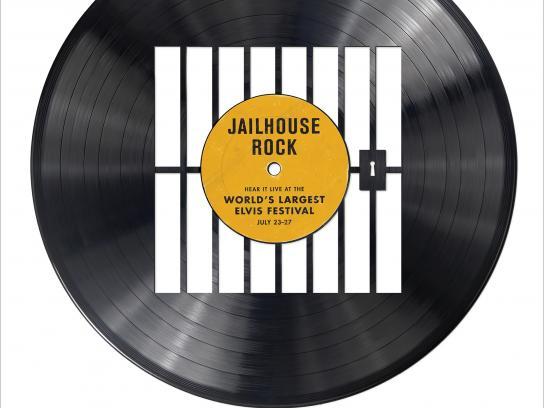 Collingwood Elvis Festival Print Ad -  Jailhouse Rock