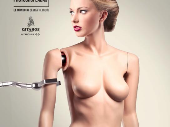 Gitanos Print Ad -  Mechanical woman