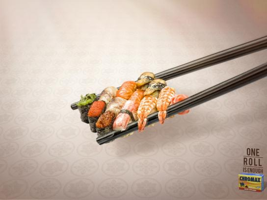 Chromax Print Ad -  One is enough, Chopsticks