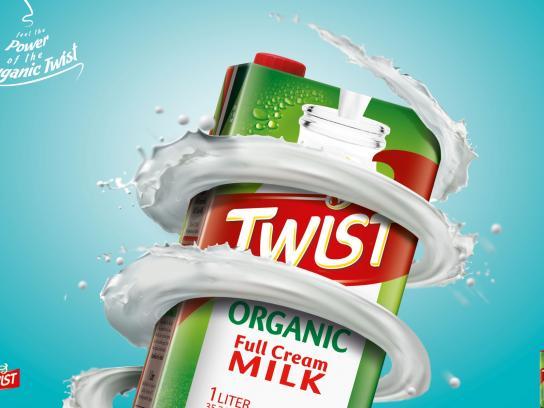 Twist Milk Print Ad -  Organic, 2