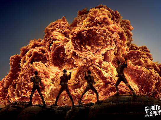 KFC Print Ad - Hot & Spicy, 2