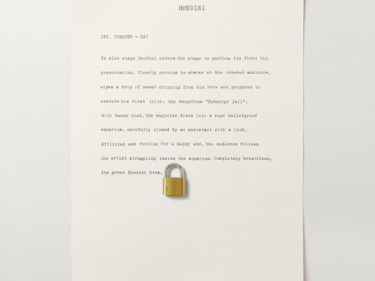 Security Center Botaminuto Print Ad -  Houdini
