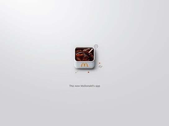 McDonald's Outdoor Ad - App-Icons, Coke