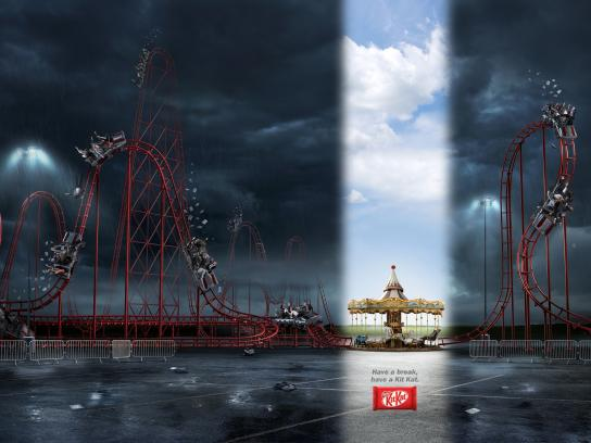 Kit Kat Print Ad -  Break, Roller Coaster