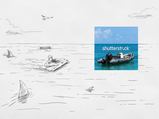 Shutterstock Print Ad - Castaway