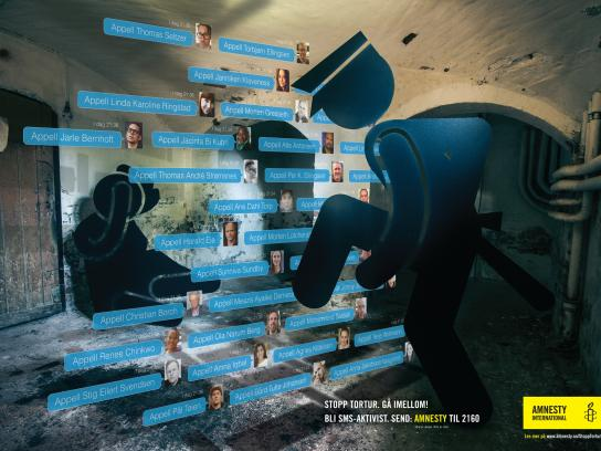 Amnesty International Print Ad -  Stop torture, 2
