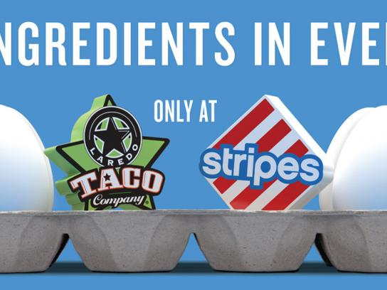 Stripes Convenience Stores Print Ad -  Egg Carton