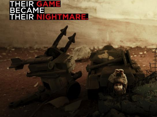 Save the Children Print Ad - Their Game Became Their Nightmare, 3