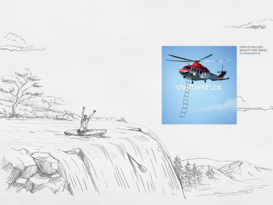 Shutterstock Print Ad - The Sketch Saver, Waterfall