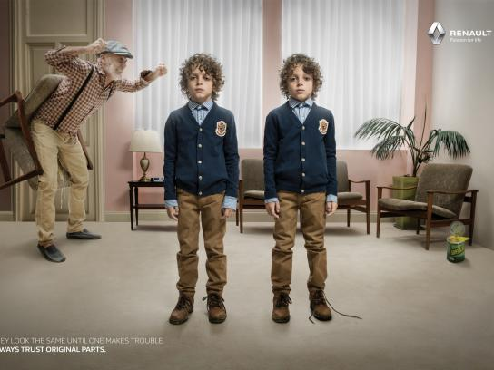 Renault Print Ad -  Evil Twin - Super glue prank