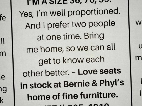 Bernie & Phyl's Print Ad - Personal ads, 3