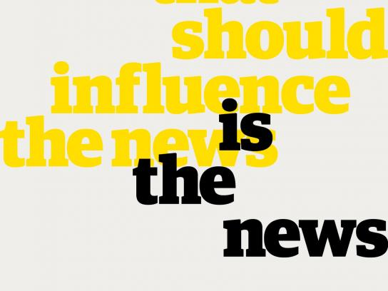 Guardian Print Ad - Influence