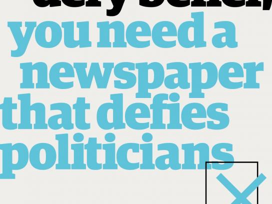 Guardian Print Ad - Politicians