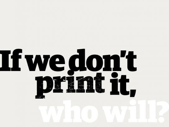 Guardian Print Ad - Who will?