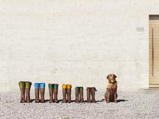 Land Rover Print Ad - Muddy Dog