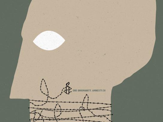Amnesty International Outdoor Ad - End inhumanity, 4