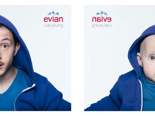 Evian Print Ad -  Damien & Augustin