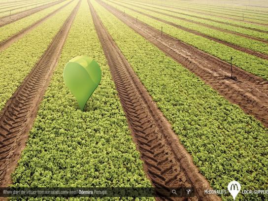 McDonald's Print Ad -  Lettuce