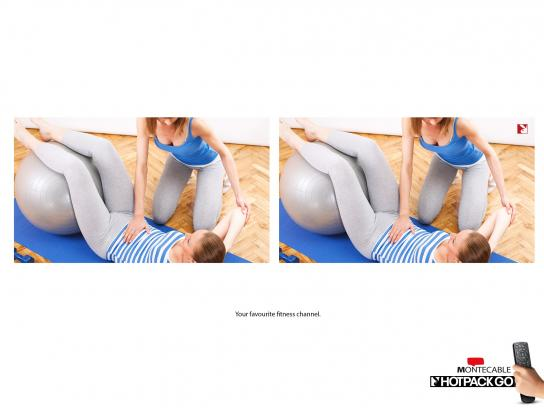 Montecable Print Ad -  Fitness